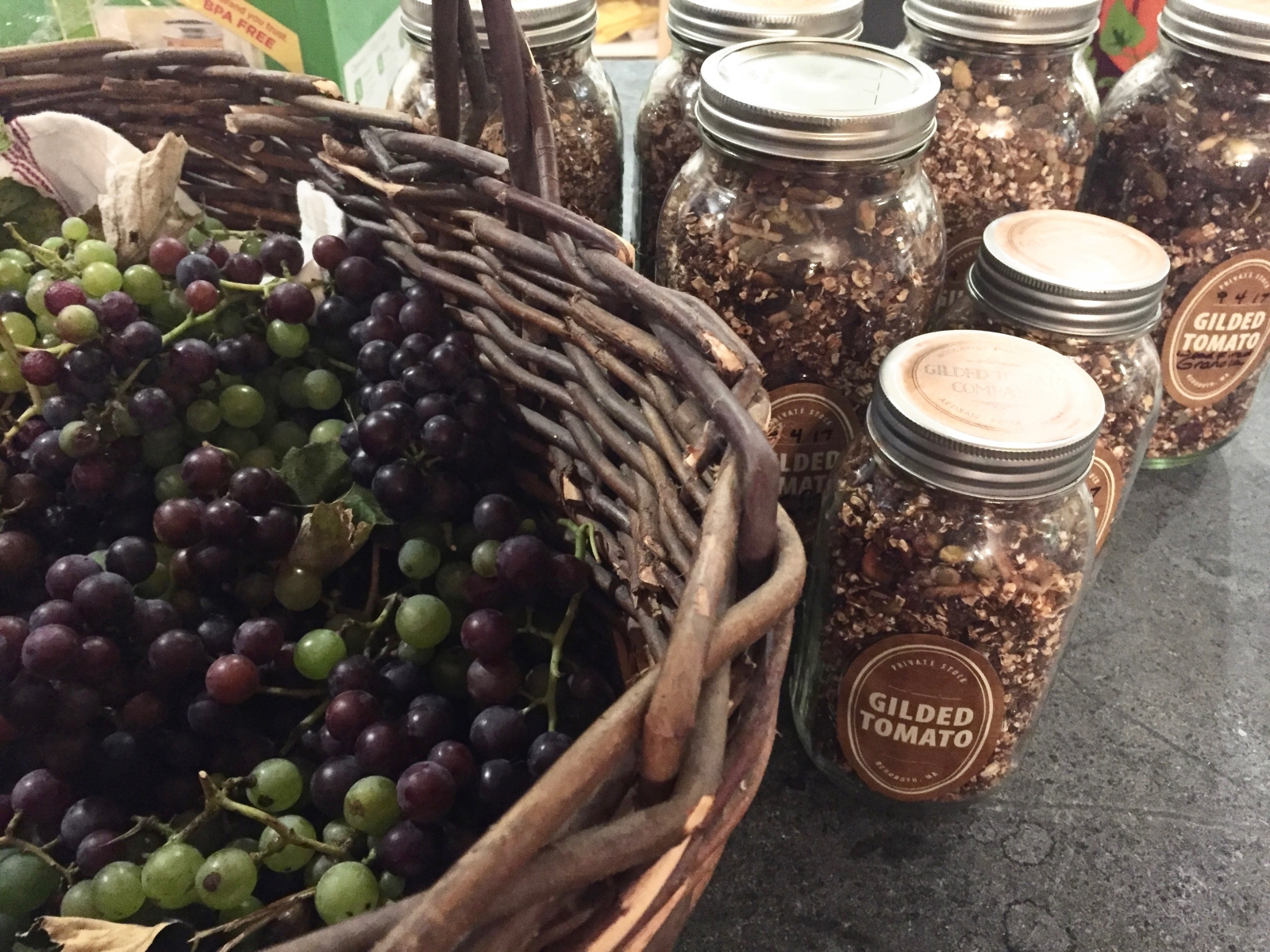 Delicious Granola and Grapes
