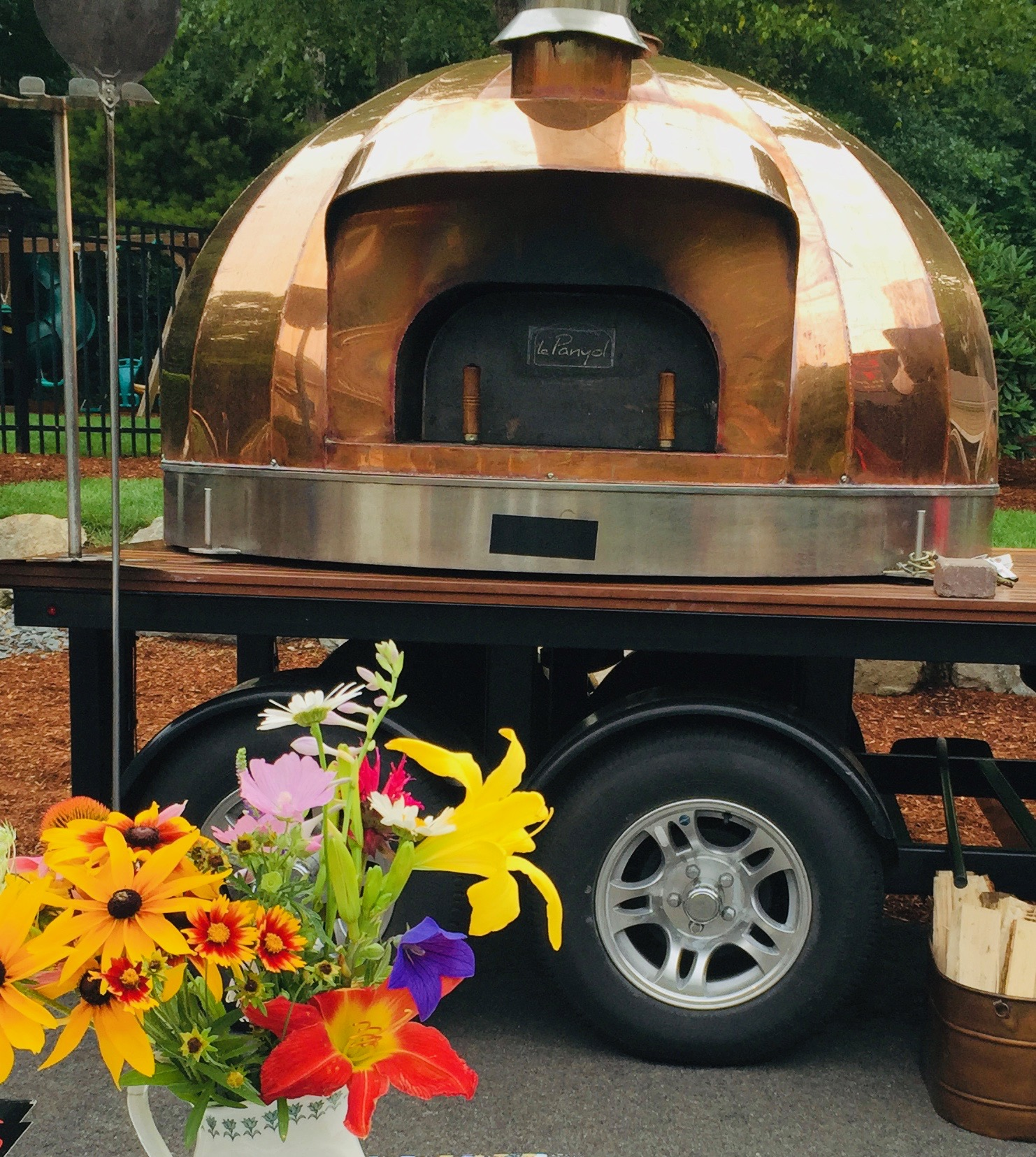 Our Copper Oven and Beautiful Wildflowers